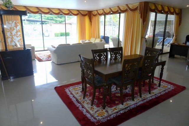 House For Sale Mabprachan Pattaya showing the dining and living areas