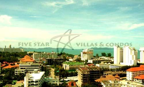 Condominium for rent in Jomtien at View Talay 2A showing the view