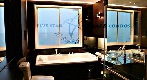Condominium for rent at Naklua in Ananya showing the master bathroom