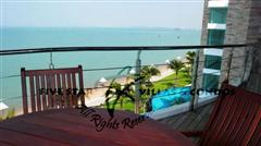 Condominium for rent at Naklua in Ananya showing the balcony views