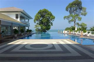 Land for sale Na Jomtien Pattaya showing the beachfront club house