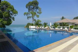 Land for sale Na Jomtien Pattaya showing the Infinity edge swimming pool