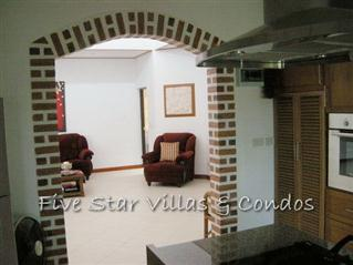 House for Sale Baan Amphur beach Pattaya showing the kitchen leading to the living room