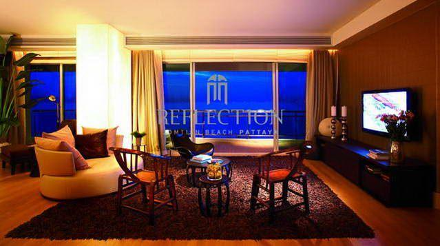 Condominium for sale in Jomtien showing living at night time