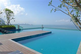 Condominium For Sale Naklua showing the roof top swimming pool