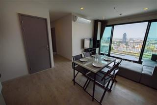 Condominium for sale Pattaya showing the living area and the balcony