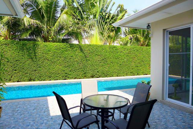 House for sale East Pattaya showing a poolside terrace