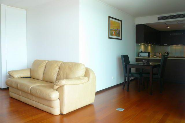 Condominium for sale in Pattaya showing the living and dining areas