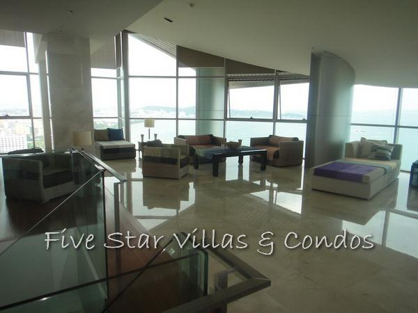 Condominium for sale on Pattaya Beach at Northshore showing duplex living