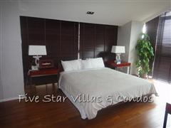 Condominium for sale on Pattaya Beach at Northshore showing a master bedroom
