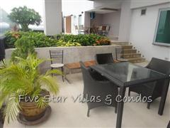 Condominium for sale on Pattaya Beach at Northshore showing the patio terrace