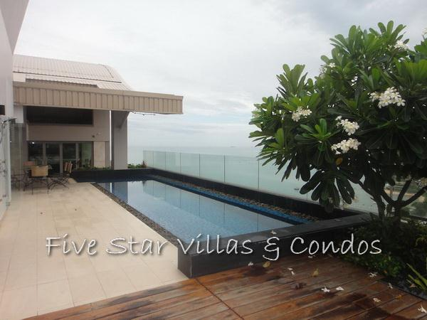 Condominium for sale on Pattaya Beach at Northshore showing private swimming pool