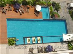 Condominium for sale in Pattaya at Northshore showing the communal pool