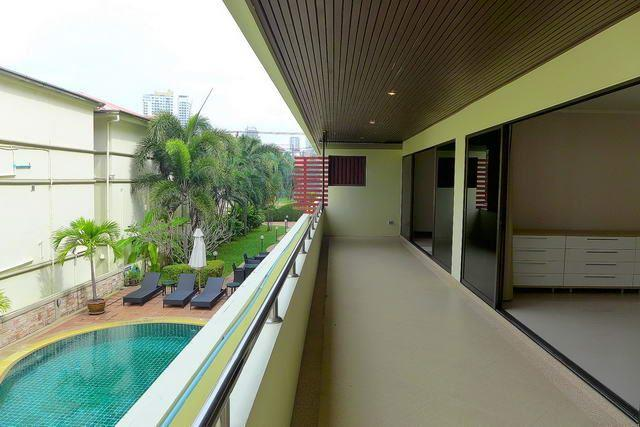 Condominium for sale Pratumnak Hill Pattaya showing the balcony and pool view