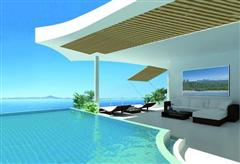 Condominium for sale Na Jomtien showing the communal pool concept