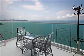 Condominium for sale Wong Amat showing the balcony and view