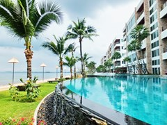 Condominium for rent Ananya Naklua showing the pool and building