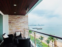 Condominium for rent Ananya Naklua showing the balcony and view