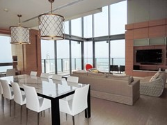 Condominium For Rent Northpoint Pattaya showing the dining and living areas