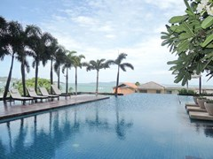 Condominium for rent in Northshore Pattaya showing the communal swimming pool