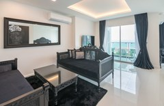 Condominium for sale Pratumnak Pattaya showing the master bedroom with living area and view