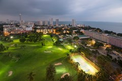 Condominium for sale Pratumnak Pattaya showing the night time view