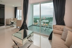 Condominium for sale Pratumnak Pattaya showing the second bedroom, living areas and view