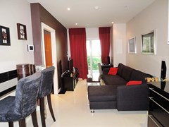 Condominium for sale Pratumnak Pattaya showing the dining and living areas