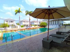 House for rent East Pattaya showing the communal pool and village