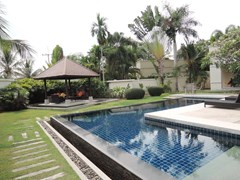 House for rent at Pattaya The Vineyard showing the swimming pool garden and sala