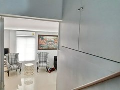 House for sale East Pattaya showing the built-in cabinet and living area