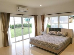 House for sale East Pattaya showing the master bedroom with garden view