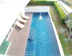 House for sale East Pattaya showing the master bedroom pool view