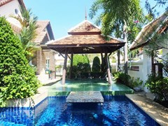 House for sale Jomtien Pattaya showing the private pool and sala