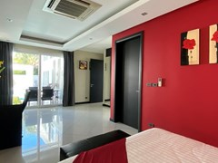 House for sale Jomtien showing the second bedroom pool view