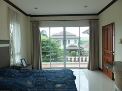 House for sale Na Jomtien Pattaya showing the second bedroom and balcony