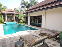House for sale Pattaya showing the private pool and sala