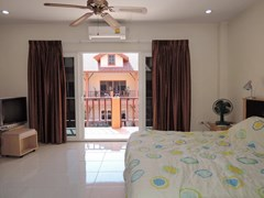 House for sale Pratumnak Hill Pattaya showing the master bedroom and balcony