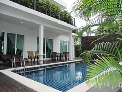 House for Sale Silverlake Pattaya showing the swimming pool and terraces