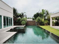 House for sale The Vineyard Pattaya showing the swimming pool and sala
