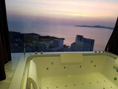 Penthouse Condominium for sale Pratumnak Pattaya showing the jacuzzi view