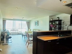 Condominium for rent Northshore Pattaya showing the living area and balcony
