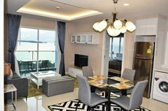 Condominium for rent Pratumnak Pattaya showing the dining and living areas