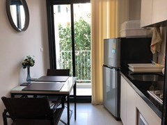 Condominium for rent Central Pattaya showing the dining and kitchen areas