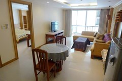 Condominium for rent in Pattaya showing the dining, living and balcony
