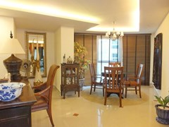 Condominium for Rent Central Pattaya showing the office and dining areas