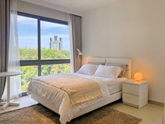 Condominium for rent Pattaya showing the sleeping area
