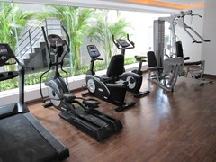 Condominium for rent Pattaya showing the fitness centre