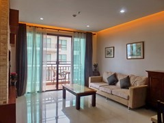 Condominium for Rent Pattaya showing the living area and balcony