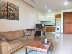 Condominium for Rent Pattaya showing the living, dining kitchen